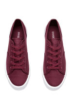 Platform trainers - Burgundy - Ladies | H&M 2
